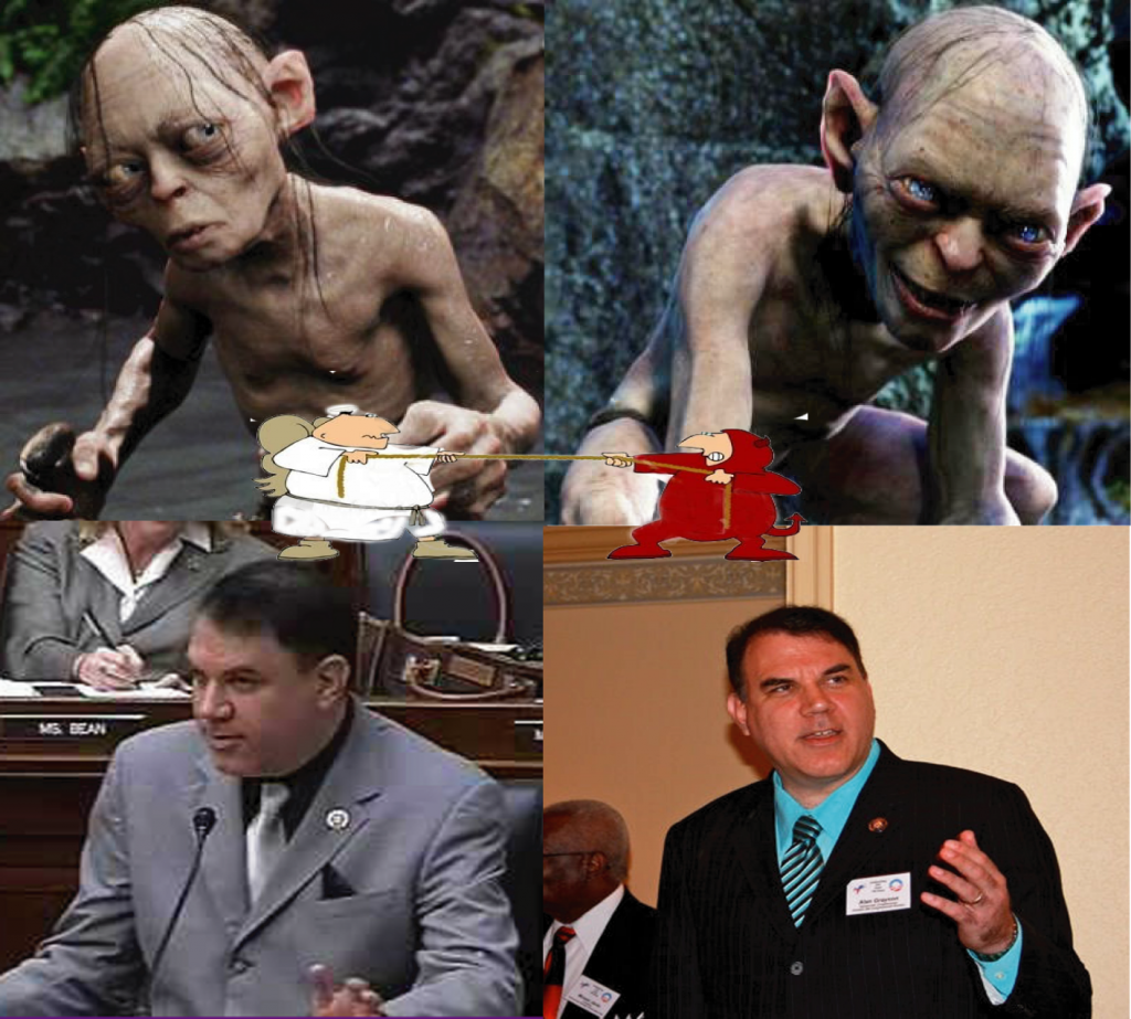 gollum - grayson with conscience